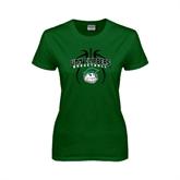 Ladies Dark Green T Shirt-Design in Ball