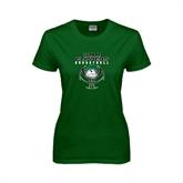 Ladies Dark Green T Shirt-Design on Ball