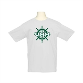 Youth White T Shirt-UMM Ships Wheel