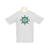 Youth White T Shirt-UMM Ships Wheel