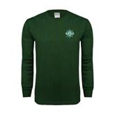 Dark Green Long Sleeve T Shirt-UMM Ships Wheel