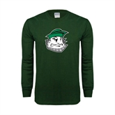 Dark Green Long Sleeve T Shirt-Clipper Head