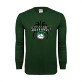 Dark Green Long Sleeve T Shirt-Design in Ball