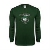 Dark Green Long Sleeve T Shirt-Design on Ball