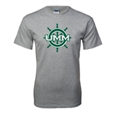Grey T Shirt-UMM Ships Wheel
