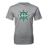 Grey T Shirt-UMM Ships Wheel