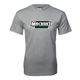 Grey T Shirt-Maine Machias Clippers