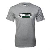 Grey T Shirt-Maine Machias Clippers