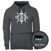 Contemporary Sofspun Charcoal Heather Hoodie-UMM Ships Wheel