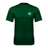 Performance Dark Green Tee-UMM Ships Wheel