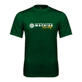 Performance Dark Green Tee-University of Maine Machias Naturally