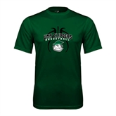 Performance Dark Green Tee-Design in Ball