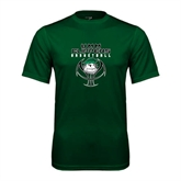Performance Dark Green Tee-Design on Ball