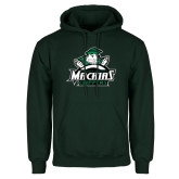 Dark Green Fleece Hood-Official Logo