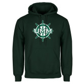 Dark Green Fleece Hood-UMM Ships Wheel