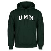 Dark Green Fleece Hood-Arched UMM