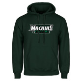 Dark Green Fleece Hood-Maine Machias Clippers