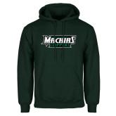 Dark Green Fleece Hood-Maine Machias Clippers