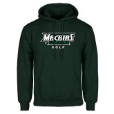 Dark Green Fleece Hood-Golf