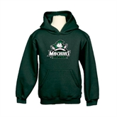 Youth Dark Green Fleece Hoodie-Official Logo