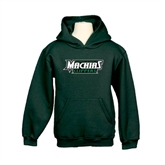 Youth Dark Green Fleece Hoodie-Maine Machias Clippers
