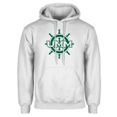 White Fleece Hoodie-UMM Ships Wheel