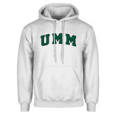 White Fleece Hoodie-Arched UMM