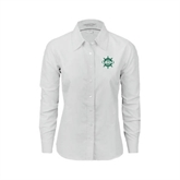 Ladies White Oxford Shirt-UMM Ships Wheel