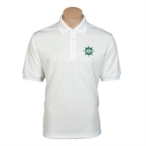 White Dry Mesh Polo-UMM Ships Wheel