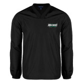 V Neck Black Raglan Windshirt-Maine Machias Clippers