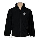 Fleece Full Zip Black Jacket-UMM Ships Wheel