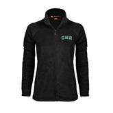 Ladies Fleece Full Zip Black Jacket-Arched UMM