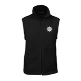Fleece Full Zip Black Vest-UMM Ships Wheel