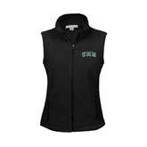 Ladies Fleece Full Zip Black Vest-Arched UMM