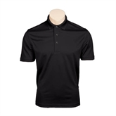 Black Dry Mesh Polo-Official Logo