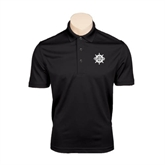 Black Dry Mesh Polo-UMM Ships Wheel