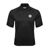Black Textured Saddle Shoulder Polo-UMM Ships Wheel