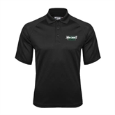 Black Textured Saddle Shoulder Polo-Maine Machias Clippers