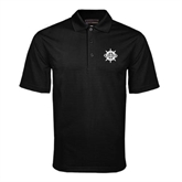 Black Mini Stripe Polo-UMM Ships Wheel