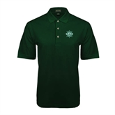 Dark Green Pique Polo-UMM Ships Wheel