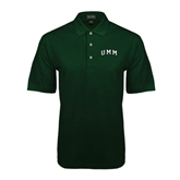 Dark Green Pique Polo-Arched UMM