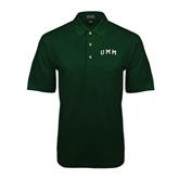 Dark Green Pique Polo-Arched UMM