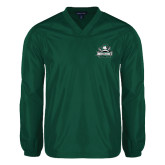 V Neck Dark Green Raglan Windshirt-Official Logo