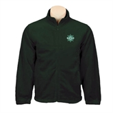 Fleece Full Zip Dark Green Jacket-UMM Ships Wheel