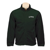 Fleece Full Zip Dark Green Jacket-Arched UMM