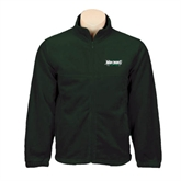 Fleece Full Zip Dark Green Jacket-Maine Machias Clippers