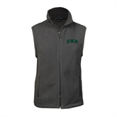 Fleece Full Zip Charcoal Vest-Arched UMM