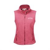 Ladies Fleece Full Zip Raspberry Vest-Arched UMM