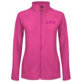 Ladies Fleece Full Zip Raspberry Jacket-Arched UMM