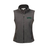 Ladies Fleece Full Zip Charcoal Vest-Arched UMM